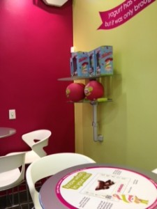 Menchie's Seating and Froyo Eating Area