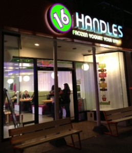 16 Handles Frozen Yogurt Store