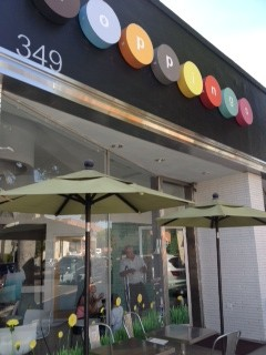Front View of Toppings Frozen Yogurt in LA!