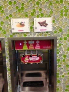 Front View of the Fro Yo Machine.