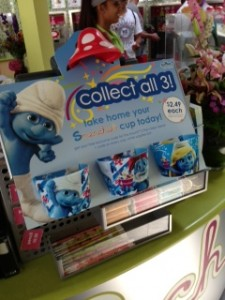 Promoting Smurfs the Movie, Collect all 3 cups!