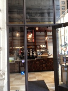 The store front of Coffee Cultures