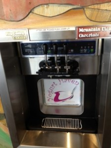 Yogurt Haven's Fro- Yo Machine.