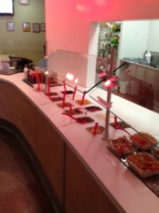 Take a look at the yummy topping bar!
